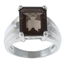 Gems For You Sterling Silver Smoky Quartz Ring