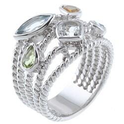 La Preciosa Sterling Silver Multi-gemstone Ring