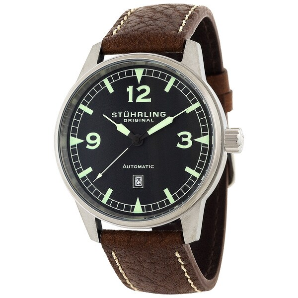 Stuhrling Original Men's 'Tuskegee Flier' Automatic Watch