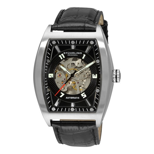 Stuhrling Original Men's 'Millennia Prodigy' Black-Dial Automatic Watch
