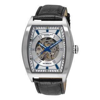 Stuhrling Original Men's 'Millennia Prodigy' Silver-Tone-Dial Automatic Watch