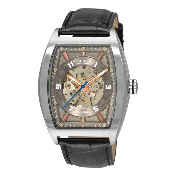 Stuhrling Original Men's 'Millennia Prodigy' Gray-Dial Automatic Watch