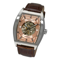 Stuhrling Original Men's 'Millennia Prodigy' Rose-Tone-Dial Automatic Watch
