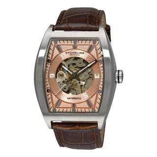 Stuhrling Original Men's 'Millennia Prodigy' Rose-Tone-Dial Automatic Watch