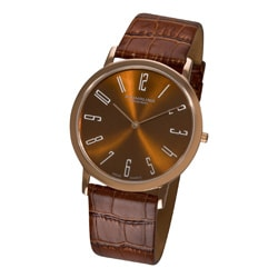 Stuhrling Original Men's Brown 'Belmont' Ultra Slim Watch