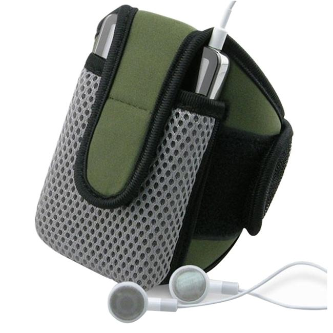 INSTEN Olive SportBand with Phone Case Cover for Apple iPhone 4