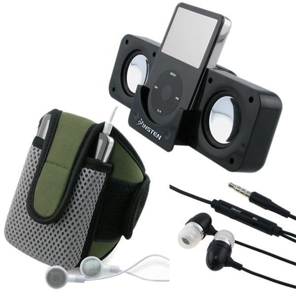 INSTEN 3-piece SportBand/ Multimedia Speaker/ Headset for Apple iPhone 4
