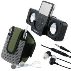 3-piece SportBand/ Multimedia Speaker/ Headset for Apple iPhone 4