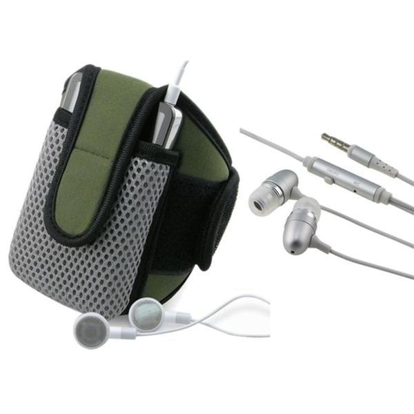 Olive SportBand with Case/ 3.5mm Headset for HTC Google Nexus One