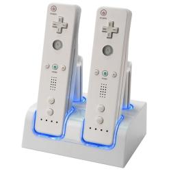 Battery Charging Station with 4 Batteries for Nintendo Wii