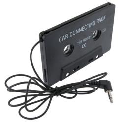 Black Car Audio Cassette Adapter for Amazon Kindle