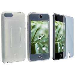 Clear White Skin Case/ LCD Protector for Apple iPod Touch Gen 1/ 2/ 3