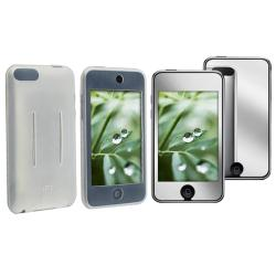 INSTEN Clear White Skin iPod Case Cover/ Mirror LCD Protector for Apple iPod Touch 2/ 3