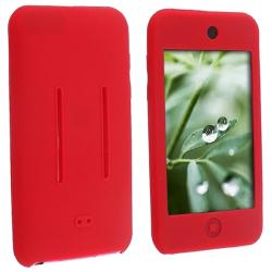Red Silicone Skin Case for Apple iPod Touch 1st/ 2nd/ 3rd Gen