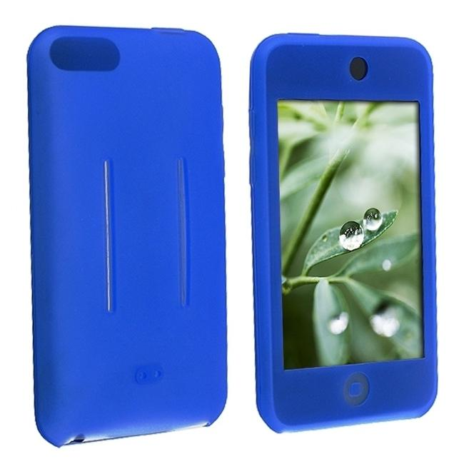 INSTEN Blue Soft Silicone Skin iPod Case Cover for Apple iPod Touch 1st/ 2nd/ 3rd Gen
