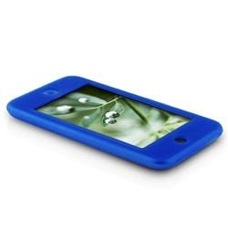 INSTEN Blue Skin iPod Case Cover/ LCD Protector for Apple iPod Touch Gen 1st/ 2nd/ 3rd