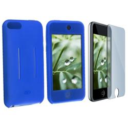 Blue Skin Case/ LCD Protector for Apple iPod Touch Gen 1st/ 2nd/ 3rd