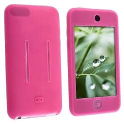 Hot Pink Silicone Skin Case for Apple iPod Touch 1st/ 2nd/ 3rd Gen