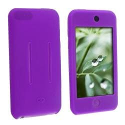 Purple Silicone Skin Case for Apple iPod Touch 1st/ 2nd/ 3rd Gen
