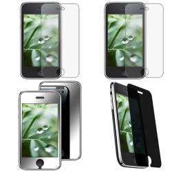 4-piece Mirror/ Anti-glare/ Privacy LCD Filters for Apple iPhone 3GS