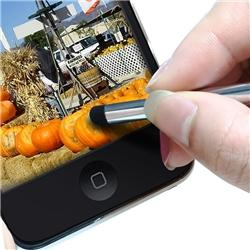 Silver Universal Retractable Touch Screen Stylus