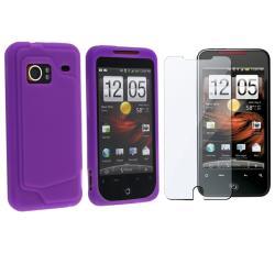Purple Skin Case/ Screen Protector for HTC Droid Incredible Verizon