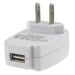 White USB 2-in-1 Data Cable/ USB Travel Charger for SanDisk Sansa