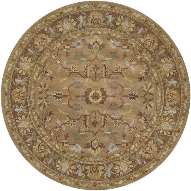 Hand-tufted Tapestry Mocha Wool Rug (8' Round) at Sears.com