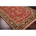 Hand-knotted Finial Red Wool Rug (8' Square)