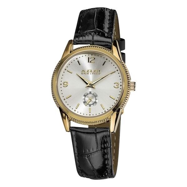 August Steiner Women's Leather Strap Watch