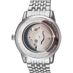 August Steiner Men's Automatic Mother-Of-Pearl Mineral-Crystal Bracelet Watch