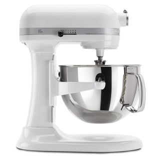 KitchenAid RKP26M1XWH White 6-quart Pro 600 Bowl-Lift Stand Mixer (Refurbished)