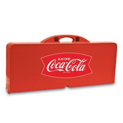 Picnic Time Coca-Cola Folding Portable Picnic Table w/ Seats