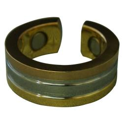 Magnetic Stainless Steel Copper/ Gold/ Silver Ring (Size 6)