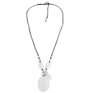 Mother of Pearl and Quartz Teardrop Necklace (Thailand)