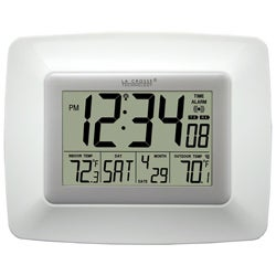 La Crosse Technology WS-8119U-IT-W Atomic Digital Clock with Temperature