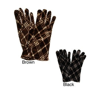 Cejon Women's Plaid Velvet Gloves