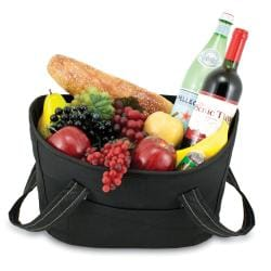 Insulated Mercado Black Double-lid Cooler Basket