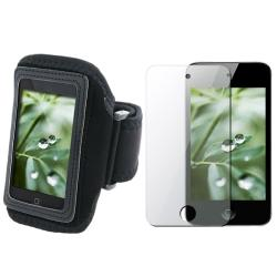 INSTEN Black Deluxe Sport Armband/ Screen Protector for Apple iPod Touch 4th Gen
