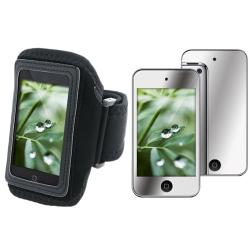 Black Sport Armband/ Mirror Screen Protector for Apple iPod Touch 4th Gen