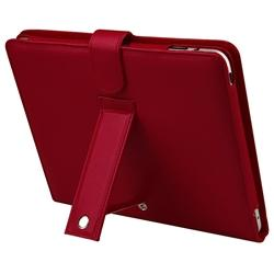 INSTEN Red Leather Tablet Case Cover with Screen Protector for Apple iPad