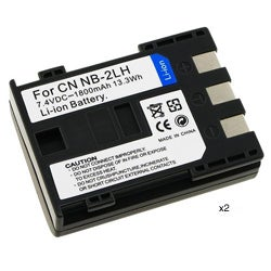 Compatible Li-ion Battery for Canon NB-2LH (Pack of 2)