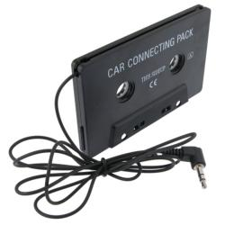 Black Universal Car Audio Cassette Adapter