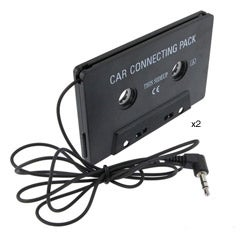 INSTEN Black Universal Car Audio Cassette Adapter (Pack of 2)