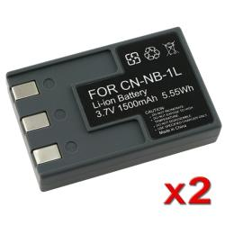 Compatible Li-ion Battery for Canon NB-1L (Pack of 2)