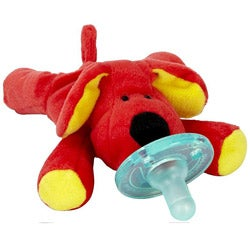 WubbaNub Red Dog Infant Pacifier