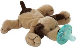 WubbaNub Brown Puppy Infant Pacifier