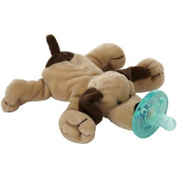 WubbaNub Brown Puppy Infant Pacifier