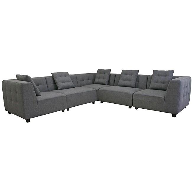 Alcoa Grey Fabric Modular Modern Sectional Sofa