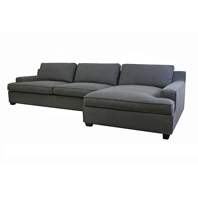 kaspar slate grey fabric modern sectional sofa 13449292 overstock